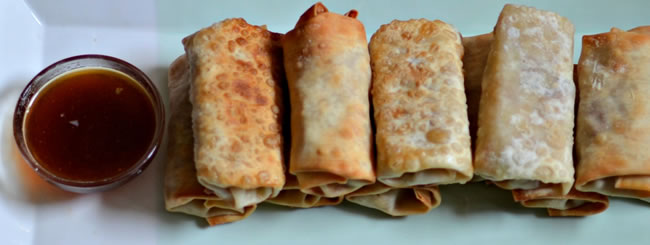 Cook It Kosher: Pastrami Egg Rolls with Apricot Dipping Sauce