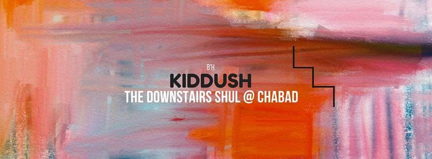 Downstairs Kiddush