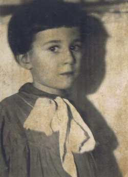 The author as a child in Russia.<br />
