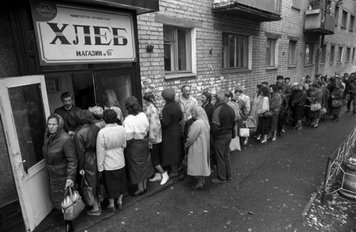 For decades, waiting long hours to receive a ration of bread was part of life in Soviet Russia.