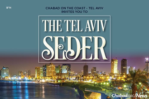 Chabad on the Coast in Tel Aviv will host its first community seder this year for English speakers in Tel Aviv.