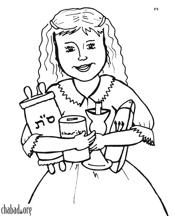 early childhood jewish coloring pages - photo#20