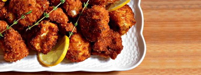 Cook It Kosher: Crunchy Lemon-Thyme Cauliflower Bites with Tzatziki Sauce