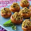 Garlic and Pesto Stuffed Mushrooms