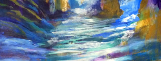 Chukat Art: Moses Strikes the Rock, Water Pours Forth