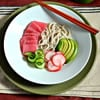 Cold Cucumber Soup with Fresh Tuna and Soba Noodles