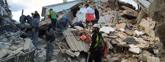 Europe: Chabad in Italy Offers Assistance to Earthquake Victims