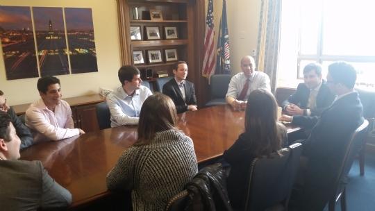 With US Senator Cory Booker