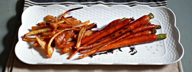 Cook It Kosher: Sticky, Honey-Ginger Roasted Parsnip