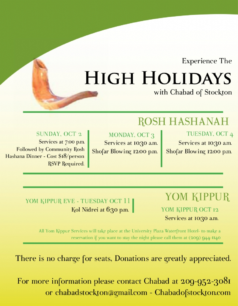 High Holiday Info