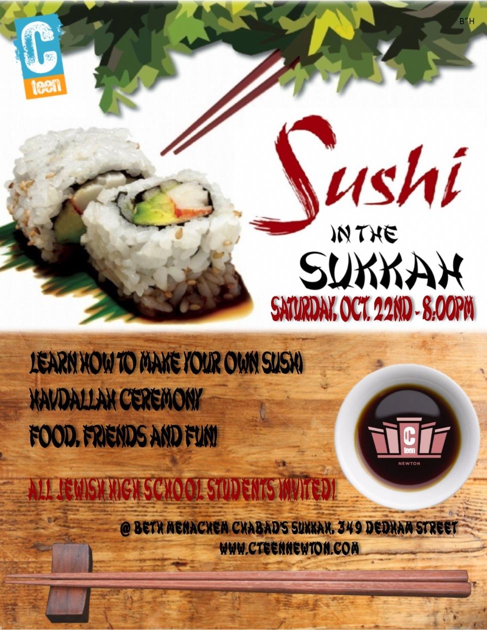 cteen sushi in the sukkah