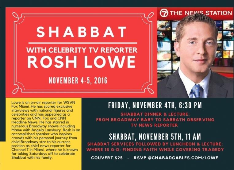 Rosh Lowe Shabbaton