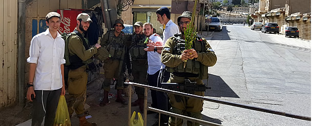 Israel: Sukkot in Hebron for Israeli Soldiers and International Visitors