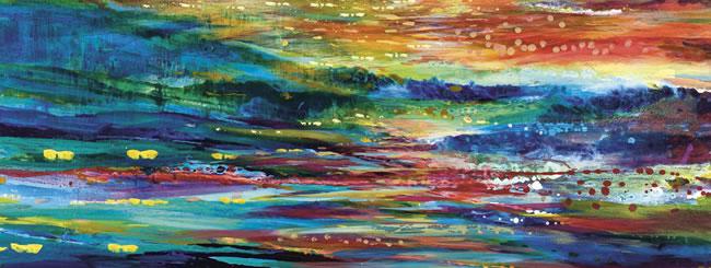 Noach Art: Rainbow Landscape