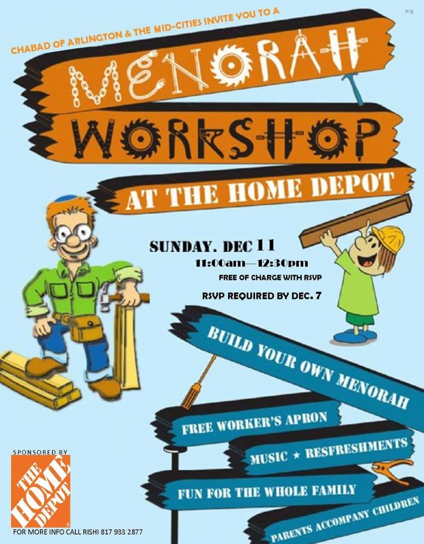 Blue apron arlington - Home Depot Menorah Workshop