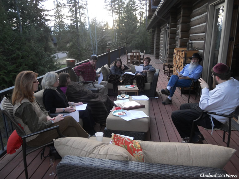Jewish community members in Whitefish gather for a Torah class with Rabbi Chaim Bruk, co-director of Chabad-Lubavitch of Montana. The town was targeted for an armed neo-Nazi march on Jan. 16, Martin Luther King Jr. Day.