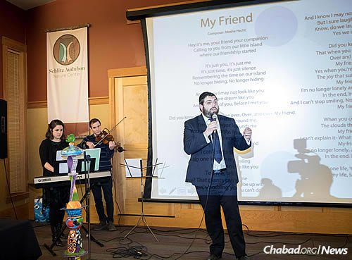 "Cantor Aryeh Leib Hurwitz's repertoire included the song ""My Friend,"" written by Rabbi Moshe Hecht of Brooklyn, N.Y., for the Chabad-affiliated organization."