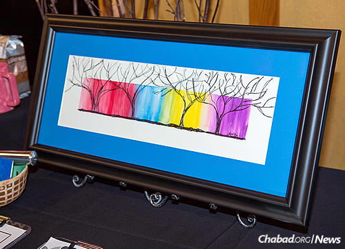The artwork auctioned off was created by children and adults with special needs.