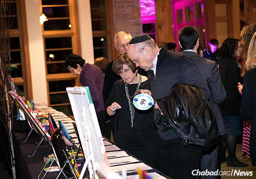 Both a silent and live auction were held during the evening.