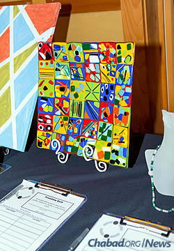Up for sale were ceramics, paintings and other pieces.