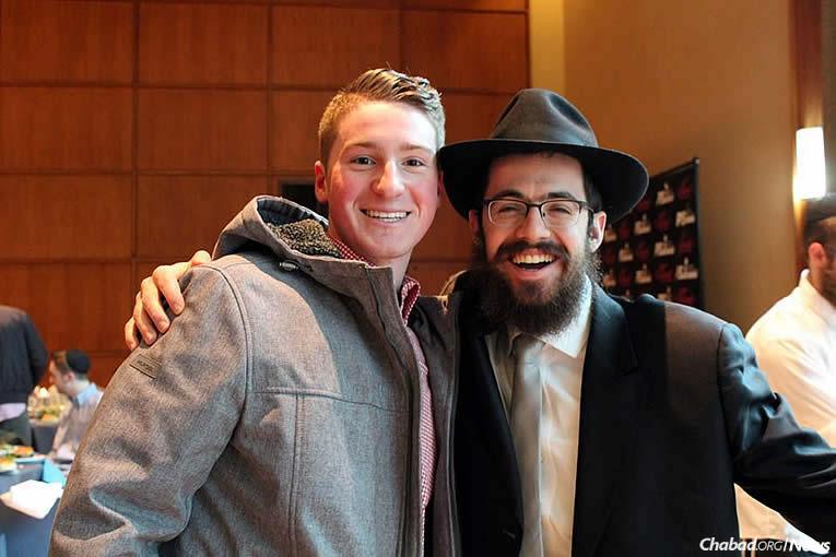Sam Epstein and Rabbi Gourarie (Photo: Hannah Geller)