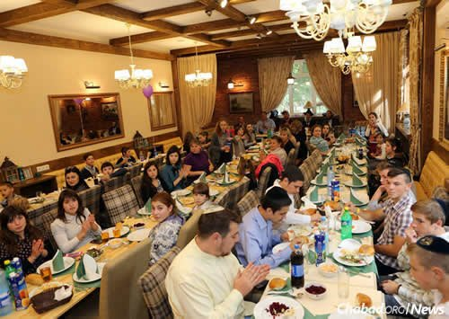 A celebration at the kosher restaurant, which opened in 2015, on the Zarichany campus