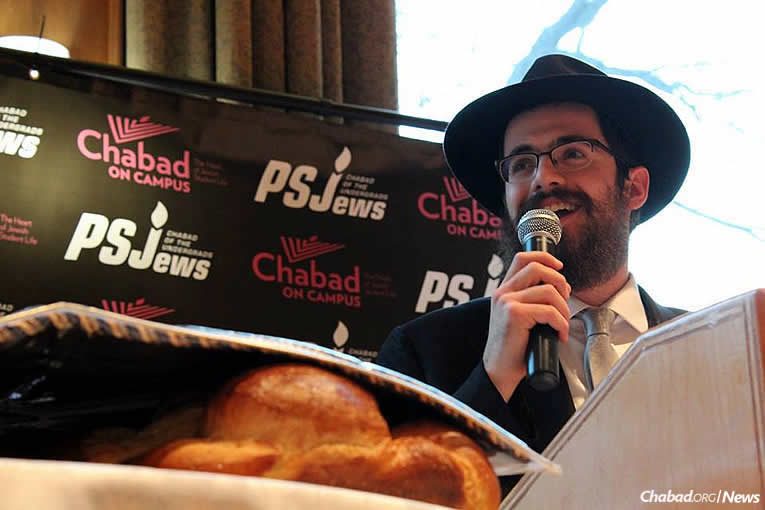 Rabbi Hershy Gourarie, co-director of PSJews-Chabad of the Undergrads (Photo: Hannah Geller)