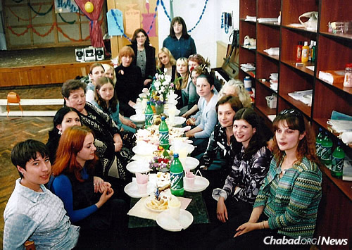 At a women's event in Zhitomir