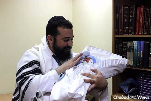 Cohen, a mohel by training, performed the newborn's brit himself. During some of the heaviest fighting in 2014, he drove to Lugansk, Ukraine, to perform a circumcision there.