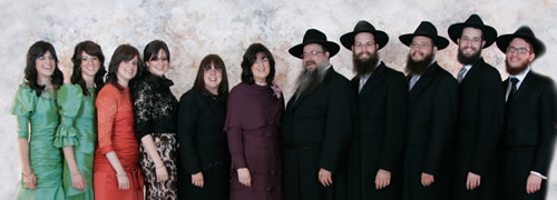 Rabbi Daniel Moscowitz with his wife and children