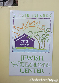 The sign that greets visitors to Chabad (Photo: Howard Blas)