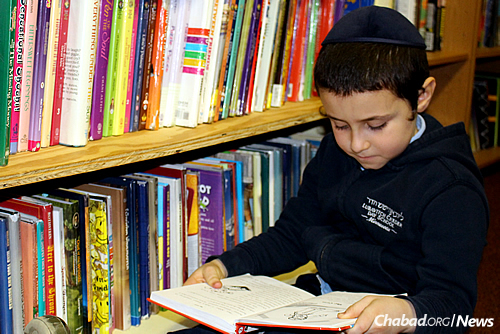 Books, books and more books: the foundation of a Jewish education.