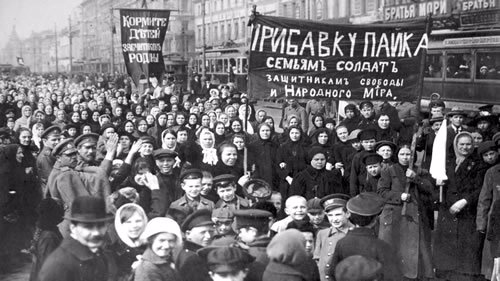 The Russian Revolution began on International Women's Day, 1917, which serendipitously coincided with the festival of Purim. Tens of thousands of women joined striking workers to call for an end to Tsarist autocracy.