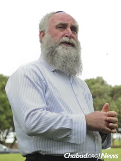 Rabbi Itchel Krasnjansky, director of Chabad of Hawaii in Honolulu