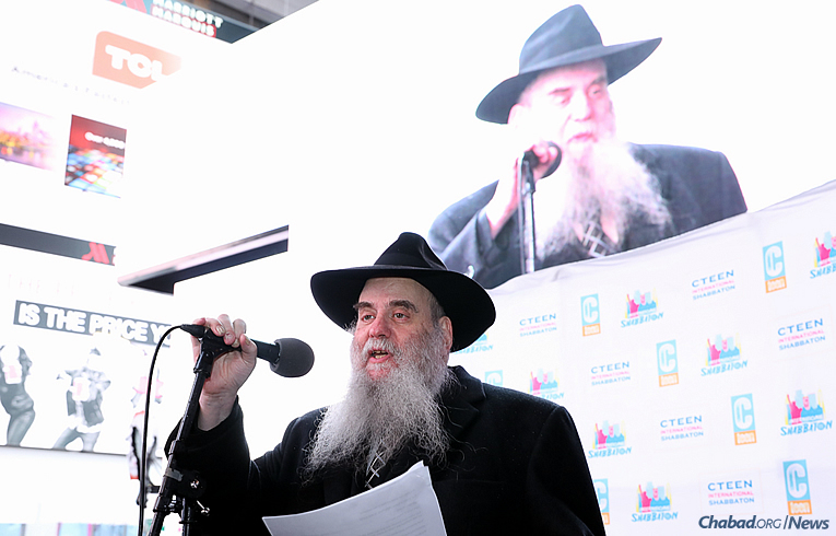 Rabbi Moshe Kotlarsky, vice chairman of Merkos L'Inyonei Chinuch, the educational arm of Chabad-Lubavitch (Photo: Bentzi Sasson)
