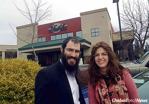 Rabbi Nochum and Chyena Yusewitz, who are just starting Chabad of Grass Valley, Calif., look forward to their very first Purim party, to be held here at the Foothills Event Center.