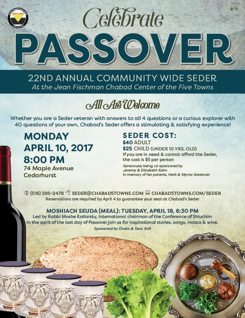 Pesach 5776 Seder