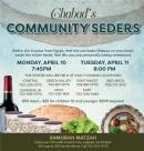 Pesach Seders 2018