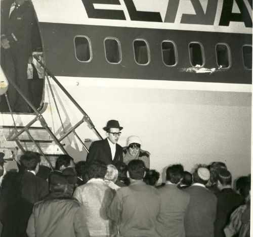 יוסף מנדלביץ נוחת בישראל