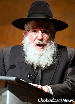 Rabbi Nissen Mangel will speak at Virginia Tech on April 24. (Photo: Eliott Foust)