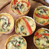 Crustless Roasted Red Pepper Quiche