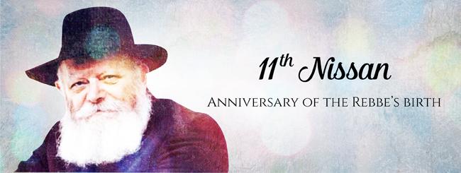 Anniversary of the Rebbe's Birth