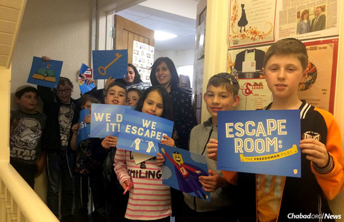 "Children will have the chance to partake in the ""Pesach Escape Room: The FreedoMan Files,"" a 45-minute ""Exodus experience"" launched by more 100 Chabad-Lubavitch emissaries worldwide. (Photo: CKids)"