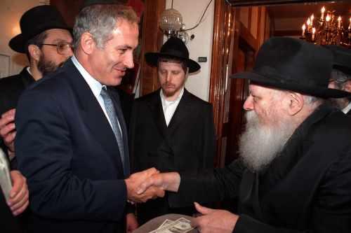 בנימין נתניהו בפגישה עם הרבי מליובאוויטש