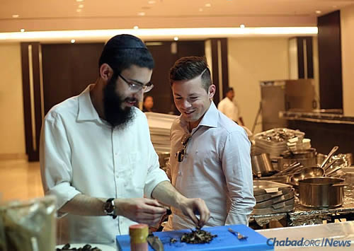 Kosher-for-Passover food being prepped last year for the seder in Bangalore, the capital of India's southern Karnataka state and center of India's high-tech industry.