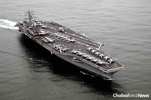 "The ""U.S.S. Nimitz,"" commissioned in 1975 (Photo: Wikimedia Commons)"