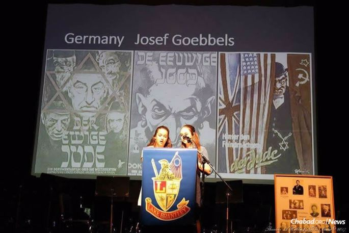 After swastikas were drawn on the entrance to Lake Brantley High School in Altamonte Springs, Fla., Jewish students were prompted to hold a program fostering awareness and education, complete with visuals, guest speakers and the assistance of the local Chabad.