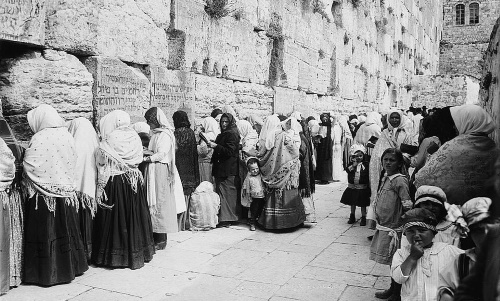 Praying at the Kotel at the turn of the 20th century.