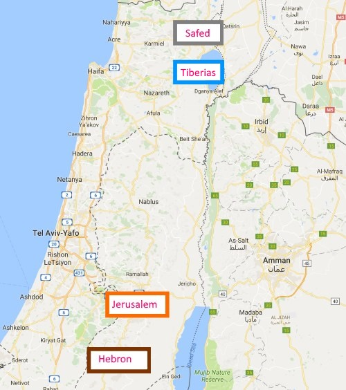 Four holy cities of israel what and why questions answers eventually the jewish community in tiberias was rebuilt and rejoined the other three cities once again sciox Gallery