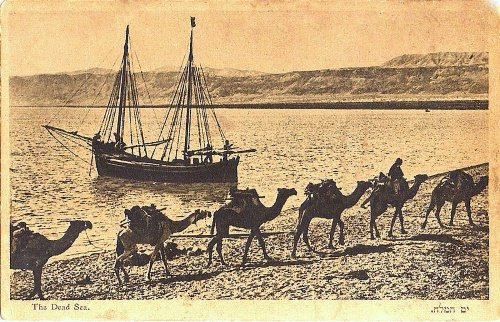 Transport on and near the Dead Sea in 1920.